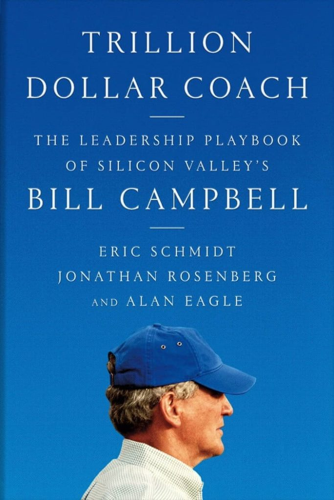 Book cover for Trillion Dollar Coach, the leadership playbook of Silicon Valley's Bill Campbell